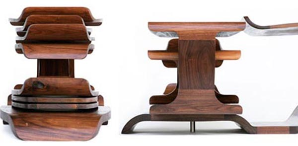 Pictures of Gorgeous Desk Designs : Gorgeous Desk Design Rotating Round Wood Table