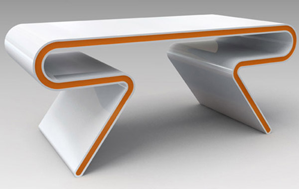 Pictures of Gorgeous Desk Designs: Gorgeous Desk Design Sleek Futuristic Table Furniture