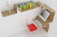 Pictures of Gorgeous Desk Designs : Gorgeous Desk Design Space Saving Desk Storage