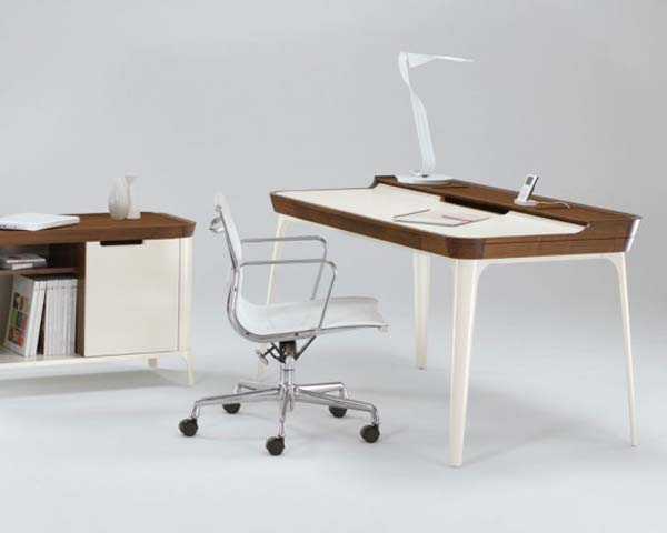 Pictures of Gorgeous Desk Designs : Gorgeous Desk For Modern Home Office Design By Kaijustudios 1