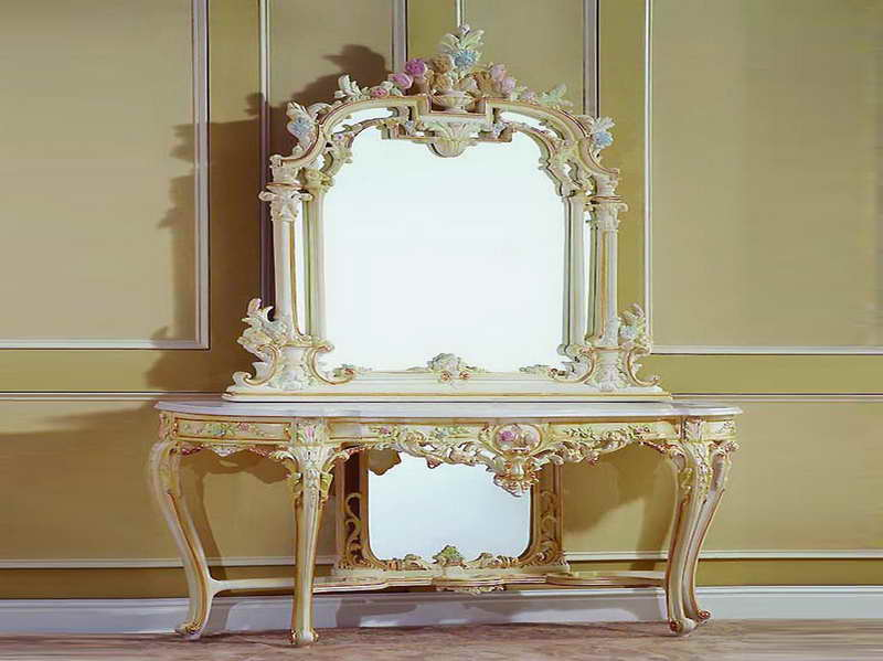 Inspiring Entryway Furniture Design Ideas: Gorgeous French Entryway Tables With Mirrors Set Design