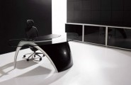 Pictures of Gorgeous Desk Designs : Gorgeous Futuristic Office Desk Luna Design By Uffix 2