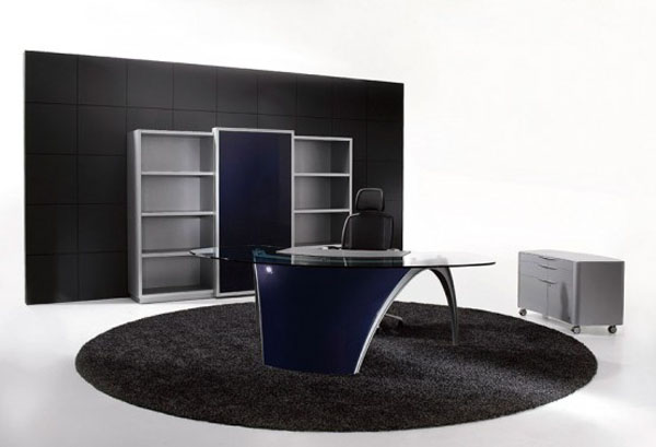 Pictures of Gorgeous Desk Designs : Gorgeous Futuristic Office Desk Luna Design By Uffix 3