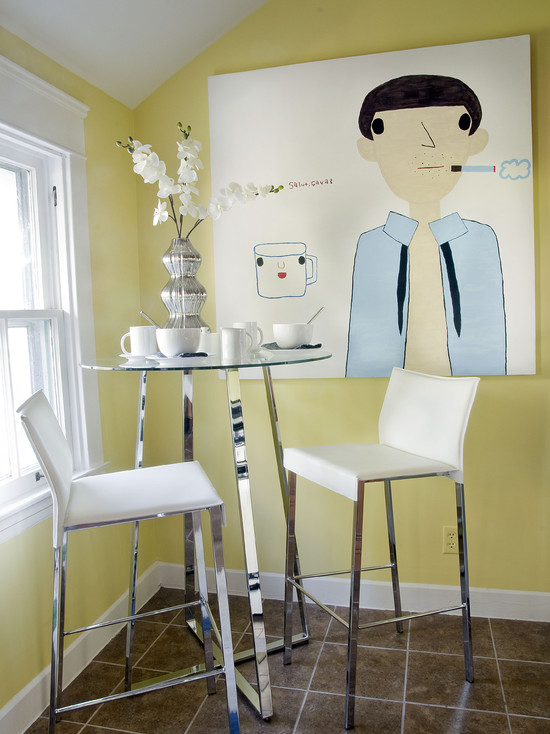 Chairs Great Idea For Dining Room In The Kitchen With Cafe Dining - Slender dining table