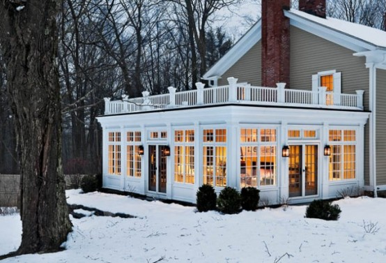 Breathtaking Furniture Room Layout And Accent Pieces Sunroom Design Ideas: Great Sunroom Surrounded By Winter That Show Natural Energies With Perfect Furniture Room Layout And Accent Pieces And Bringing In Beautiful Natural Light