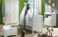 Stunning White Theme Baby bedroom Furniture Concept : Green Stunning White Theme Baby Bedroom Interior Furniture Design Ideas Nursery Painted Wall White Cute Baby Furniture