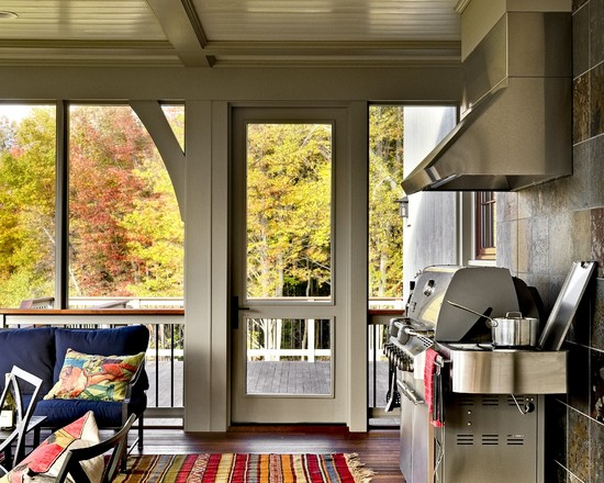 Terrific Outdoor Grill Exhaust And Ventilation: Grill In Porch With Hood And Tile And Ent Over Grill For Cooking Under The Porch