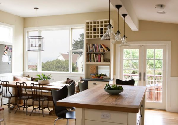 Styling Ideas For Your Beautiful Kitchen Pendant Lights : Handblown Meridian Beautiful Kitchen Pendant Lights Give This Kitchen A Modern Touch