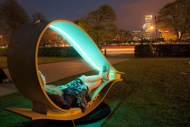 The SOFT Rocker: MIT's Power Generator Lounge: Have Good Nighttime For Social Gathering Under The Cool SOFT Rocker Lighting Loops