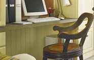 How To Organize Your Office Desk Space : Hide Office Wiring Behind Beadboard Ideas