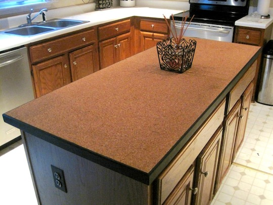 Hottest Kitchen Counter Top Materials Over Granite Or Marble: Hottest Kitchen Island Countertop Made From Corc Idea