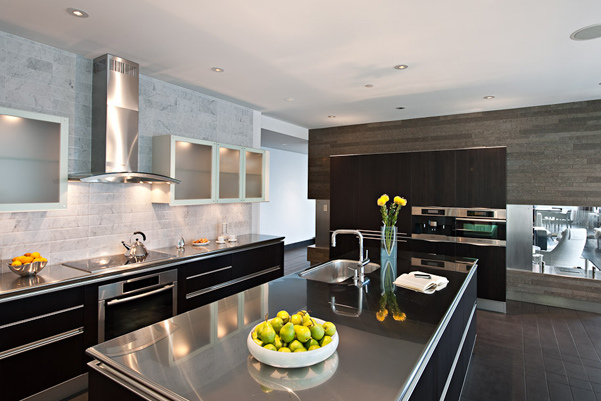 Hottest Kitchen Counter Top Materials Over Granite Or Marble: Hottest Kitchen Island Countertop Made From Stainless Steel Material With Cabinetery Marble Wall Lighting Tile Flooring Ideas ~ stevenwardhair.com Chairs Inspiration