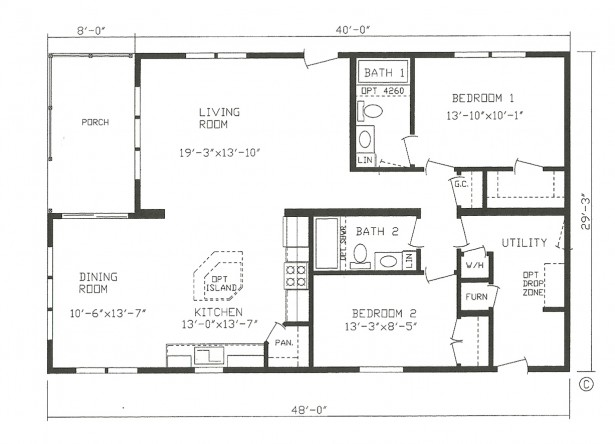 Excellent Home Living Open Floor Plan Design Ideas: House Architecture Floor Plans Modular Homes With Terrific Kithen And Dining Open Floor Eco Friendly And Artistic Small Modular Homes ~ stevenwardhair.com Architecture Inspiration
