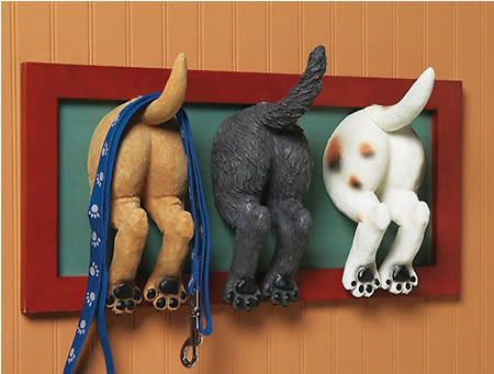 The Most Creative Wall Hook Design: Humorous Touch Puppy But Wall Hook