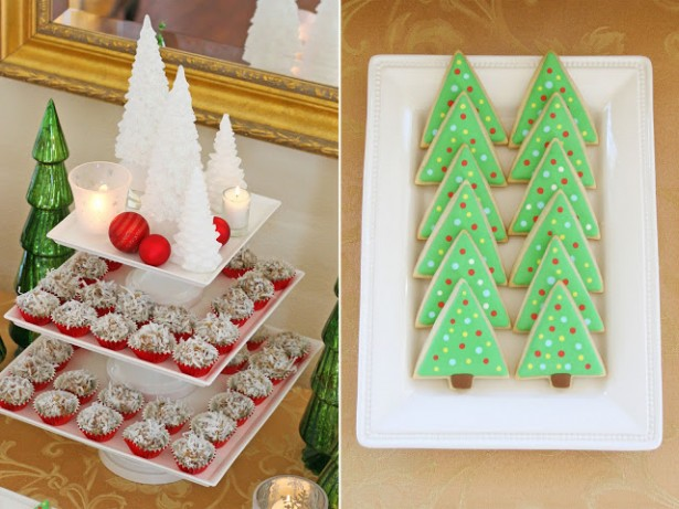 Fascinating Christmas Banquet Table Decoration Ideas: Inspiring Christmas Banquet Table Decoration Ideas With Decorations Fabulous Classic White Holiday Dessert Table With Delicious Tree Bread ~ stevenwardhair.com Holiday Decoration Inspiration