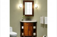 Captivating Bathroom Vanity Ideas For Small Bathrooms Design : Inspiring Corner Small Bathroom Vanity Design With Mirror Sink Cabinet Lamps Ideas