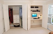 Build Your Desk In A Closet : Inspiring Desk In Closet Ideas Two Separate Closet Wardrobe Doors Computer