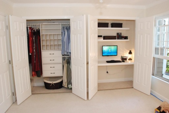 Build Your Desk In A Closet Inspiring Ideas Two Separate Wardrobe