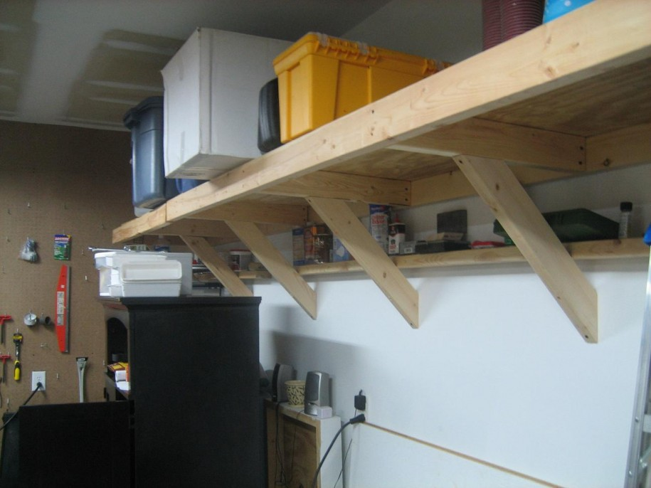 Attractive Minimalist Garage Shelves Furniture Design To Organize Your Tools :  Inspiring Garage Storage Ideas With Wooden