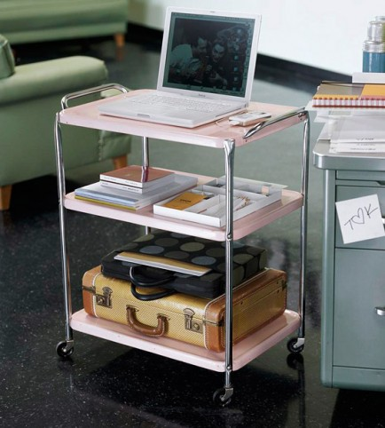 Office Space Organizing Is One Of The Keys To A Successful Business: Inspiring Home Ofice Space Organizing By Tv Cart Home Office