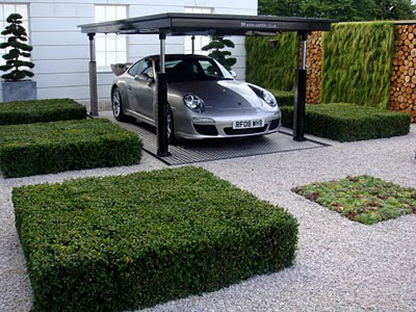 Inspiring House Plants With Hydraulic Underground Garage: Inspiring Hydraulic Underground Garage Ideas 1