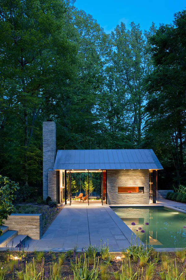 Inviting Backyards Ideas: Inspiring Pool and Garden Pavilion Design: Inspiring Pool And Garden Pavilion Geometry For Inviting Backyards