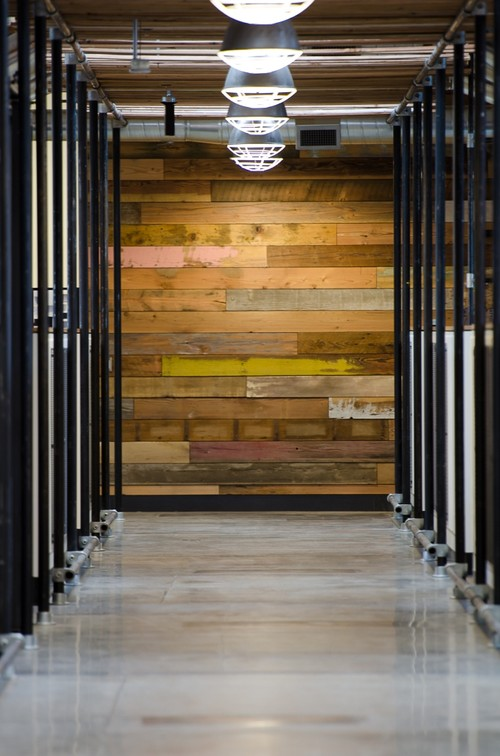 Awesome Reclaimed Wood Wall Design Ideas: Inspiring Reclaimed Wood As In A Eclectic Industrial Hall Commercial Setting Interior Design Ideas