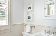 Excellent Vinyl Wainscoting Panels For Your Beautiful Home Decor : Inspiring Traditional Powder Room Vinyl Wainscoting Panels Lustrates Classic Painted Wood Could Match Painted Elements To Your Windows Champagne Colour