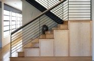 Amazing Toy Storage Cabinets : Interesting Toy Storage In Cabinets Under The Modern Staircase