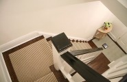 Excellent Striped-Stair-Runner For Staircase : Interesting Traditional Staircase With Striped Stair Runner