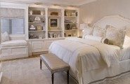 Amazing Built In Bedroom Furniture Designs : Interesting Transitional Bedroom Built In Bedroom Furniture Designs Bedding Headboard Etcetera Built In Shelving And Window Seat