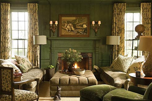 Tips To Become An Interior Decorator : Interior Decorator Ideas Luxury Livingroom Sofa Chair Cushion Lamps Fireplace Table Curtain Window