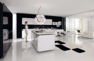 IT-IS Kitchen, Cooking With Love : IT IS Kitchen 4 Amazing Luxury Kitchen Design With Black Cabinet Kitchen Island Pendant Light Porcelain Flooring Rug Table Chair Sofa Ideas