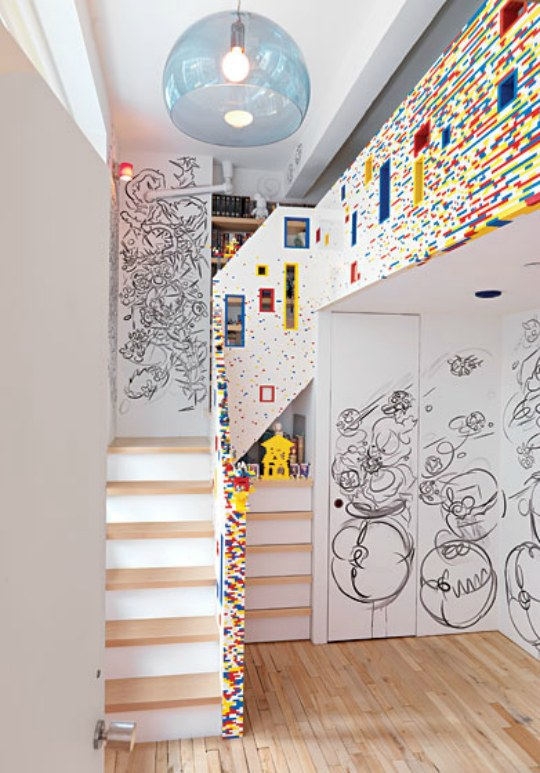 Cool Ways To Decorate A Room : Lego Inspired Boys Room