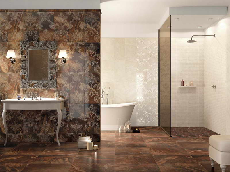 Art Deco Bathroom Designs To Inspire Your Relaxing Sanctuary: Luxury Bathroom Design With Cool Luxury Bathroom Wall Tile And Bathroom Vanities