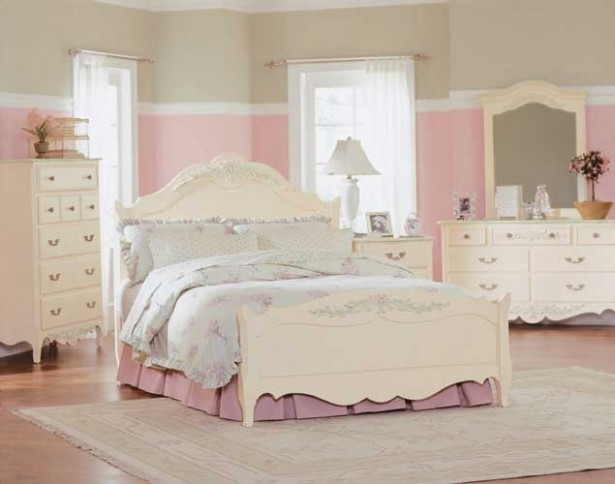 Inspiring Kids Planning Girls Bedroom Using Colorfull Patern: Marvellous Teen Planning Inspiring Gilrs Planning Bedroom Design Ideas Wooden Floor White Bed Design Ideas Wonderful Dressing Table ~ stevenwardhair.com Bed Ideas Inspiration