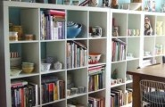 Materials And Designs Selection For Tiny Room To Utilize The Space : Materials And Designs Selection For Tiny Room To Utilize The Space With Decorative Bookshelves And Living Room Interior With Laminated Wood Floor Design