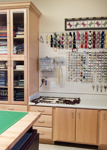 Pegboard For Craft Room: Media Room With Amazing Pegboard On Craftsroom For Tools And Hobby Room With Hooks