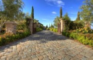 Rustic Cobblestone Tile Flooring : Mediterranean Entry European Cobblestone In Antique Sandstone Concrete Base Installation