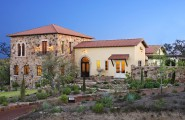 Astounding Hacienda Style Home Plans : Mediterranean Exterior Hacienda Style Spanish Oaks House