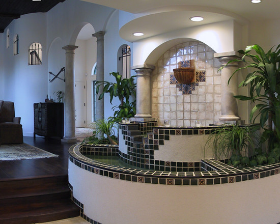 Excellent Indoor Water Feature: Mediterranean Kitchen Amazing Indoor Water Feature In The House ~ stevenwardhair.com Design & Decorating Inspiration