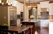 Astounding Pre Made Cabinets : Mesmerizing Traditional Kitchen Pre Made Cabinets They Antiqued And Glazed Contrast Between The Wall Color And The Cabinets Similar Stainlesstell Appliances