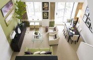 Outstanding Natural Beauty of Colorful Living Room Ideas : Minimalist Outstanding Colorful Natural Beauty Living Room Ideas Naturally Rooms Wooden Floor Accents White Interior Picture Wall Green Plant Decor