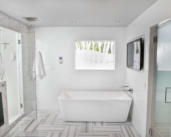 Amazing Herringbone Tile Layout Designs Modern Bathroom White Stone Floor Pattern
