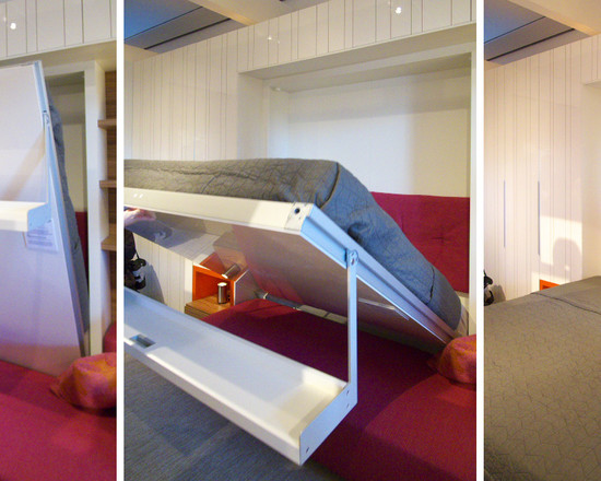 All Kinds Of Wall Bed Couch: Modern Bedroom Murphy Bed And Couch Making Room Double Space Living Plus Bed