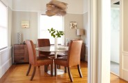 Outstanding Decorating Ideas For Small Dining Rooms : Modern Gray Dining Room With Round Dining Table In Living Room As Amazing Decorating Ideas For Small Dining Rooms