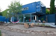 Modern House Built From Shipping Containers : Modern House Built From Shipping Containers 1 Front Right View Ideas