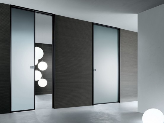 Cotemporary Modern Interior Glass Doors: Modern Interior Glass Doors Sliding Doors Spin With With Aluminum Frames Can B Also Be Used As Deviders