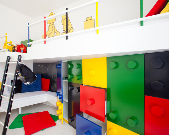 Wonderful Kids Room With Lego Storage Cube: Modern Kids Lego Drawers Custom Made Lego Storage And Loft