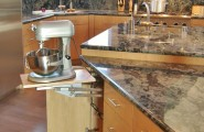 Kitchen Aid Cabinets With Popup Mixer Shelf : Modern Kitchen Aid Pop Up Cabinet Drawer For Heavy Mixer Marble Counter Top